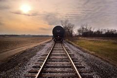 Lone Ride (RWDrurey) Tags: ohio train travel exploring nikon outdoors southernohio vivid vibrant