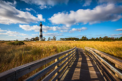 Outer Banks NC Bodie Island Lighthouse Scenic Landscape (Dave Allen Photography) Tags: northcarolina obx outerbanks nc bodie lighthouse capehatteras bodieislandlighthouse nagshead seashore nationalseashore landscape scenic clouds bluesky grasslands marsh light coast coastal atlantic eastcoast outdoors beach national usa america