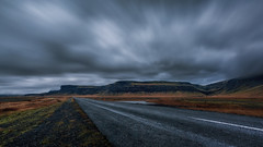 Roadtrip, Iceland (Trying to show the world as I see it) Tags: 2017 landscape iceland roadtrip travelphotography travel sky long exposure clouds fields mountains road desert dawn night