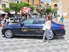 We're going to make you a star (Couldn't Call It Unexpected) Tags: mercedes benz taormina italy film festival woman lady sicily