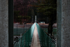Suspension bridge (Woodenship) Tags: yamanashi hayakawa town japan conutry mountainous region 早川町 山梨県