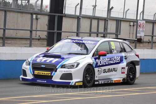 James Cole at the BTCC Media Day 2017