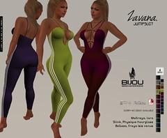 .Bijou ~ Zavana (BijankRau | [ photograp'r model.]) Tags: jumpsuit bijou sl secondlife fashion textures hud sport yoga gym