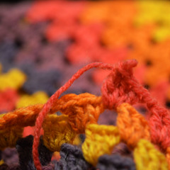 Crochet afghan (Briege Connolly) Tags: macromonday textiles crochet woolcraft cakes