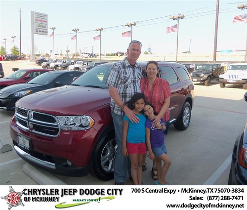 Dodge City of McKinney would like to say Congratulations to Lisa Gates on the 2013 Dodge Durango