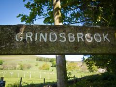 Grindsbrook. ((((Lee)))) Tags: uk england sign walking outdoors countryside walk derbyshire valley clough edale grindsbrookclough 2013 grindsbrook