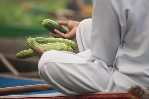 Vegetable - Floating market - Srinagar - Kashmir - Sylvain Brajeul ©