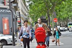2013-06-22 -  Boulevard Saint-Michel (P.K. - Paris) Tags: street people paris june juin stroller candid poussette 2013 photosderue gensdanslarue