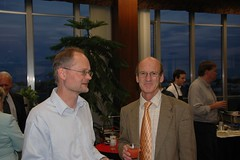 Andreas Seeger & Jean-Pierre Rosay at reception to honor Walter Rudin, Madison 2006, Photo by Yvonne Nagel (ali eminov) Tags: friends madison colleagues professors mathematicians receptions jeanpierrerosay andreasseeger receptiontohonorwalterrudin