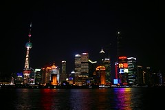 Yangtze Winds Down (HankBlum) Tags: china travel tourism skyline nightscene riverscene