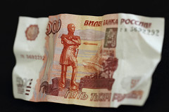 Bank note (TauronNA) Tags: money macro paper russia 100mm 7d count banknote rouble canon7d canonef100mmf28lisusmmacro fivethousandroubles countnikolai