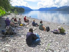 resting along Lake McDonald (jcoutside) Tags: montana backpacking glaciernationalpark