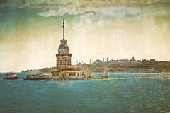 Kiz Kulesi. (J Alema) Tags: sea tower texture textura turkey island mar torre turkiye olympus isla istambul turquia bosphorus estambul maidens doncella kizkulesi bosforo xz1