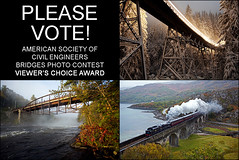 Please vote for my photos! - ASCE Bridges Photo Contest (DWHonan) Tags: uk bridge autumn winter light moon lake snow rain night river concrete photography scotland photo arch united contest bridges award kingdom competition steam viaduct civil american bow hadley choice loch vote foss society nan lenticular bnsf voting engineers luzerne truss viewers sacandaga asce uamh