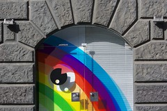 entrance to rainbow (encore-cgn) Tags: light shadow building architecture germany licht rainbow eingang entrance cologne schatten glas regenbogen canonef70200mmf4lis potd:country=de
