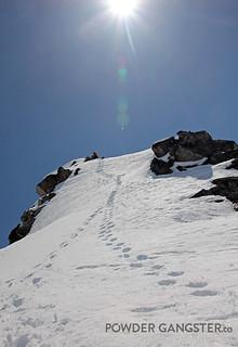 Grey's Peak, even steeper than it looks