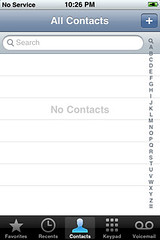 No Contacts