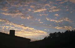 24/10/2013 (♪ulia) Tags: pink blue autumn sunset summer chimney sky orange sun house black color sol nature beautiful silhouette clouds canon project de eos spain october colorful europe cloudy earth down september galicia vegetation teenager series nublado puesta serie nube chimenea 400d