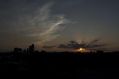 Sunset (Rick_Hope) Tags: sunset night clouds dark sundown iowa glorious darkclouds desmoines lookingwest endofday desmoinesiowa desmoinesia lightclouds skylinesilhouette waninglight rickhope