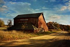 Red Barn (keeva999) Tags: autumn fall texture rural colorful farm country rustic barns iowa d3200 memoriesbook distressedjewell ohsoposh