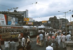 Calcutta 368 Sealdah 1980 (Guy Arab UF) Tags: india public station transport tram company kolkata articulated calcutta 368 sealdah tramways ktype