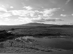 Criffel taken from Caerlaverock nature reserve (penlea1954) Tags: uk b sunset bw sun white lake black nature set scotland district w reserve northern solway criffel firth dumfries galloway caerlaverock dumfriesshire