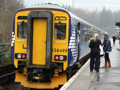 A First Scotrail Class 156, Crianlarich (En route to Glasgow) (Steve Hobson) Tags: train guard first scotrail class passengers crew 156 dmu crianlarich