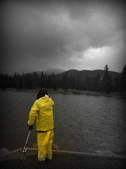 Catch of the Day (cmd112) Tags: white storm black mountains yellow rockies photography fishing colorado iphone naturephotography
