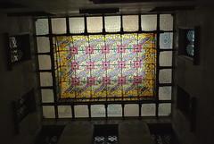 Casa Amatller - Skylight (olenka :)) Tags: barcelona light shadow window architecture spain skylight modernism stainedglass catalonia espana artnouveau staircase catalunya jugendstil casaamatller stilefloreale stileliberty nikond60 joseppuigicadafalch sezessionsstil secesja blockofdiscord illadeladiscrdia mansanadeladiscrdia nikkorafsdx1855mmf3556gvr