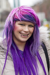 Stranger #126 (Zo0Bear) Tags: street pink portrait colour hair purple bright name leeds stranger serena 100 humans hol 100strangers