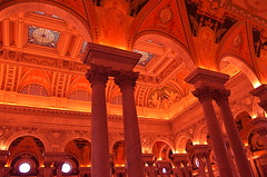 Crimson Castle (MPnormaleye) Tags: red urban beautiful crimson architecture weird amazing arch antique library skylight grand wideangle utata museums majestic magical whimsical 18mm antiquities beauxarts arcane