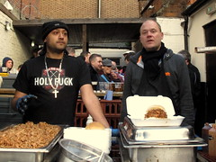 West Ham 3, Southampton 1 (Herschell Hershey) Tags: food hot london football fuck stadium ground holy ribs fans southampton eastend catering westham uptonpark boleyn saucetheribman