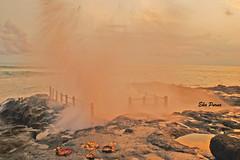 Phoenix Water (Eka Purna Sumeika *PIC*) Tags: sunset bali beach water phoenix rock indonesia nikon phoenixwater badung d3000 nikond3000 sesehbeach