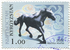 Kyrgyzstan 0001 m (roook76) Tags: old 2002 wild horse nature animal vintage ancient mare message mail antique postcard tail historic retro stamp seal envelope letter aged kazakhstan kyrgyzstan stallion equine mane postmark gallop philately gelding