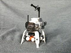 Space Team - Moonwalker (1/3 view) (Jandyman) Tags: orange white robot ship lego space micro scifi sciencefiction spaceship mecha mech moc microscale spaceteam flickrandroidapp:filter=none