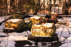 Bumper cars, Pripyat, Chernobyl, Ukraine 2013 (liam_davies) Tags: park cars abandoned amusement accident nuclear ukraine bumper disaster soviet reactor pripyat