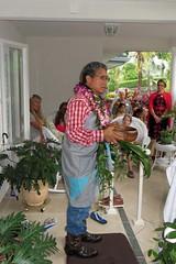 Hawaiian house blessing (BarryFackler) Tags: hawaii polynesia shoes boots culture lei blessing jeans pottedplants entryway flipflops bigisland tradition kona slippers maile cowboyboots houseblessing mailelei kailuakona 2014 plaidshirt hawaiicounty zoris hawaiiisland hawaiianculture westhawaii northkona hawaiiantradition koabowl klemmehome klemmehouseblessing dannyakakajr danielakakajr