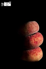 Tower of Peaches (happad fotografie) Tags: food tower fruit peaches lowkey torentje perziken