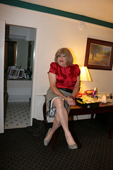 new109190-IMG_0611t (Misscherieamor) Tags: tv sitting feminine cd motel tgirl transgender mature sissy tranny transvestite crossdress ts gurl tg travestis travesti travestie m2f xdresser tgurl slipshowing satinblouse