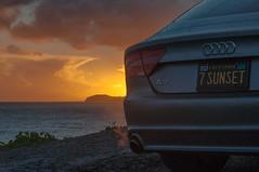A7 Sunset (blueteeth) Tags: audi a7 sunset legacy1960licenseplate sundown malibu rain raindrops