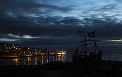 Pirate Ship Blue Hour (David Chennell - DavidC.Photography) Tags: hoylake bluehour wirral pirates pirateship gracedarling merseyside silhouette