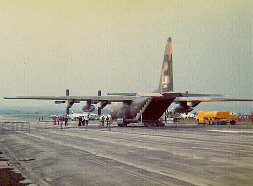 USAF Herc 63-7861 at the Woodford Airshow, 23-6-73
