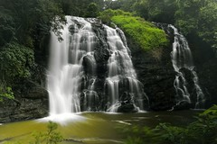 Abbey Falls (Arvind ( www.arvindbalaraman.com )) Tags: travel wild vacation india mist green fall tourism nature wet water beautiful beauty misty danger creek river wonder landscape flow waterfall moss spring stream slow natural outdoor getaway background dream fresh clean jungle monsoon tropical destination gorge tall wilderness lush splash karnataka pure refreshing mossy coorg moist pristine splashing refresh abbeyfalls