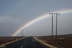 Power Lines #Explore (SigHolm - Very Busy) Tags: rain iceland rainbow may explore ma sland islande snfellsnes rigning regnbogi 2013
