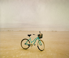 cruiserbike (yvonne boyd) Tags: ocean brown color texture beach nature water bike bicycle outdoors island gold landscapes sand warm alone seascapes natural decorative southcarolina cyan minimal shore eastcoast neutral waterscapes hiltonheadisland