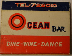 Ocean Bar Matchbox (m20wc51) Tags: bar hongkong card kowloon wanchai