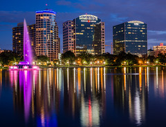 Lake Eola (5 Million Views www.DelensMode.com) Tags: city longexposure trip travel blue trees vacation urban cloud white reflection tourism fountain children landscape orlando tour married slow with purple florida tripod sigma palm porn shutter bower vangaurd d600 mafrotto samyang ishootraw tourest rokinon d700 nikonguy d7000 blackrapid placestoshoot cityporn howtoshootlongexposure exposureporn bestimagesonthenet delensmode bestplacestoshootdowntown