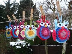 Cute Crochet Owls (bunny mummy) Tags: crochet crochetowl