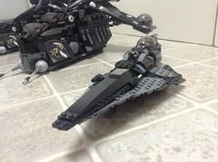 Jedi Starfighter - Black (Johnny-boi) Tags: shadow black star republic lego walker wars minifig custom clone gunship starfighter dropship