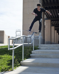 kyle boardslide churchill (charlie kitchen) Tags: 50mm nikon san texas skateboarding 18 marcos d700